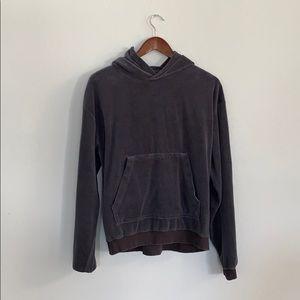 Oversized Gray Velour Sweatshirt